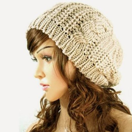 3fc664f10701 Winter Lady Women Baggy Beret Chunky Knit Knitted Braided Beanie Hat Ski Cap  starting from  3.68 SHIPPED! Price varies by the color you choose.