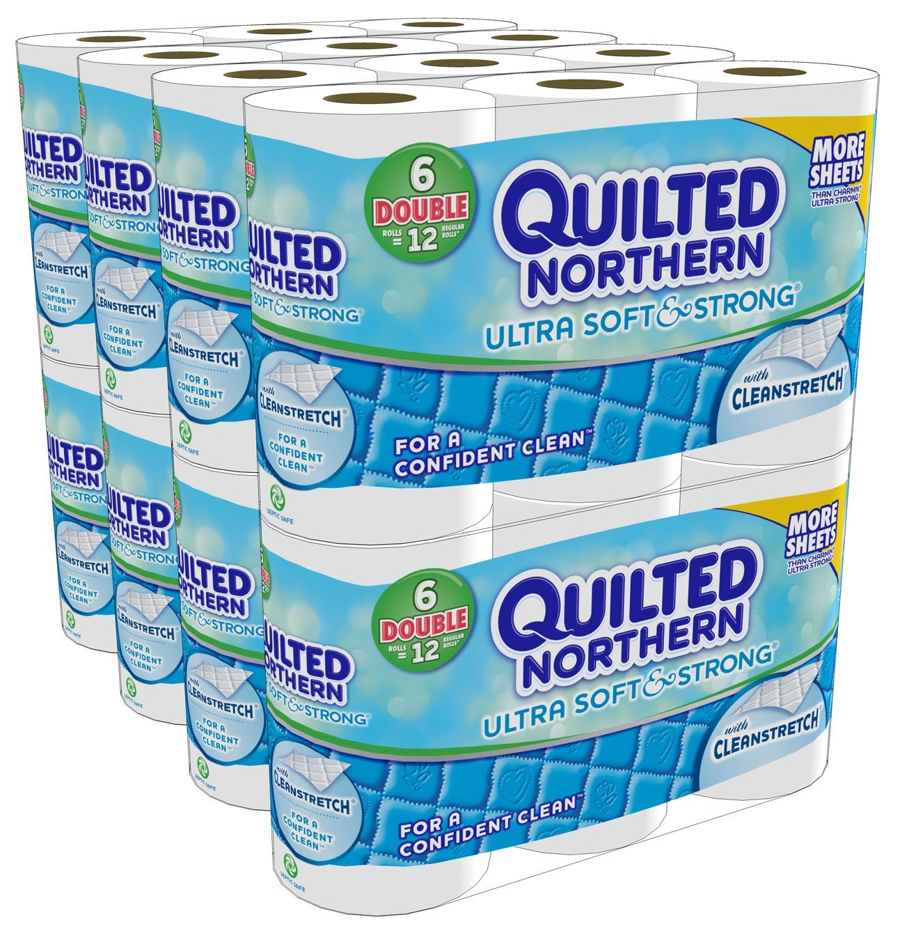 Hot Deal Quilted Northern Ultra Soft Strong 48 Double Rolls Only