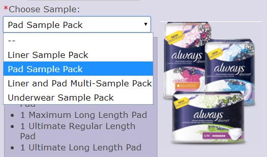 HURRY!! FREE sample of the New Always Discreet Sample Pack ...