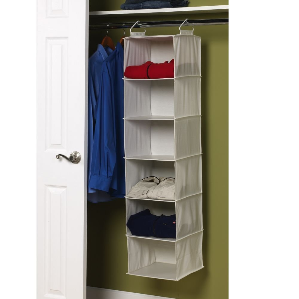 Here Is A Nice Deal To Grab On Highly Rated Organizer Household Essentials 6 Shelf Hanging Closet With Plastic Shelves Natural Canvas