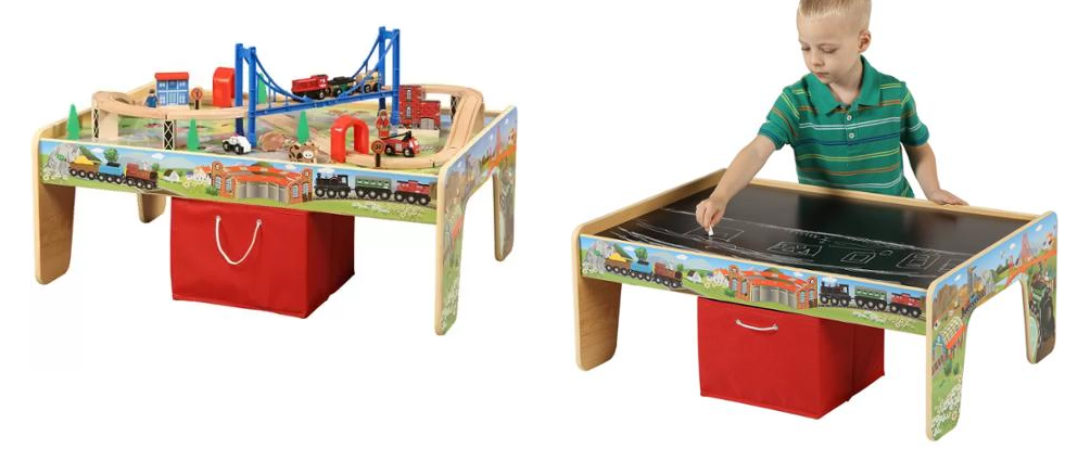50-Piece Train Set with 2-in-1 Activity Table Only $37 Down From $59.99! Sweet gift idea to grab.  sc 1 st  Saving with Vetta & HOT*** 50-Piece Train Set with 2-in-1 Activity Table Only $37 Down ...