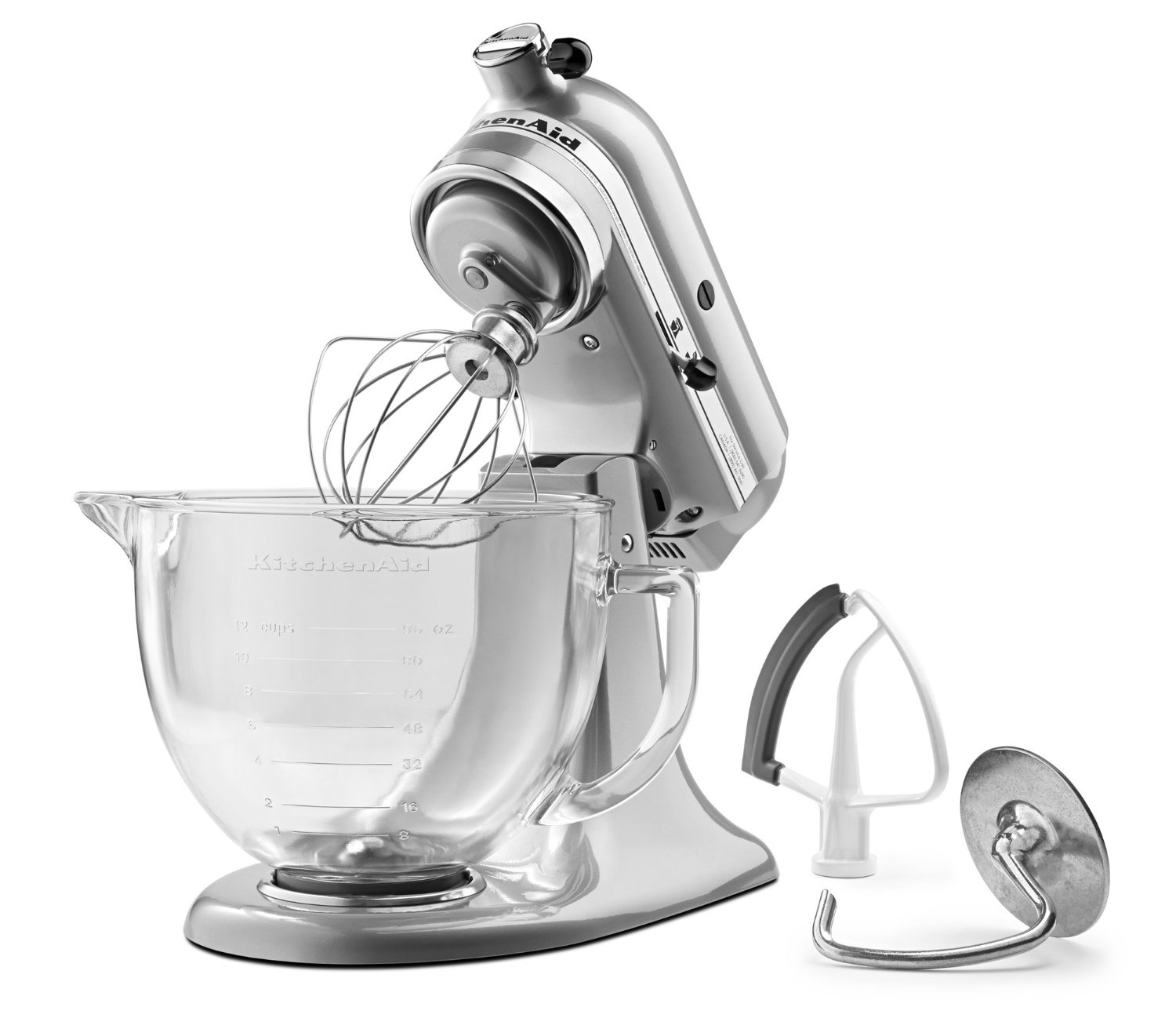 KitchenAid KSM105GBCMC 5 Qt. Tilt Head Stand Mixer With Glass Bowl And Flex  Edge Beater U2013 Metallic Chrome Only $219.99, Down From $359 .