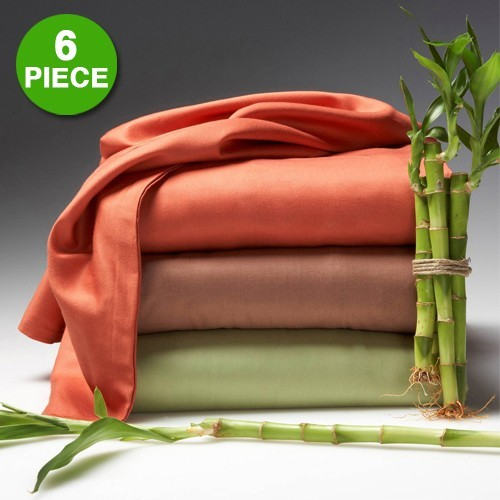 6 Piece Set U2013 Hotel Lexington 2200 Series Organic Bamboo Bed Sheets Only  $13.99 SHIPPED!