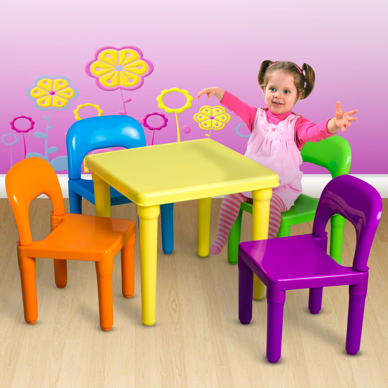 Kids Table and Chairs Play Set Toddler Child Toy Activity