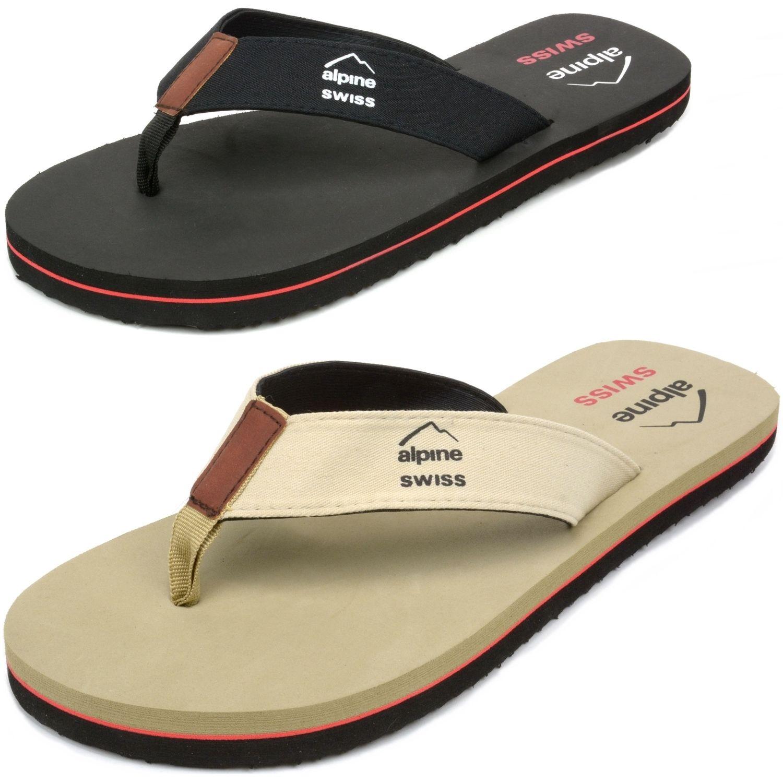 1b200b7d2 Alpine Swiss Men s Flip Flops Beach Sandals Lightweight EVA Sole Comfort  Thongs  7.99