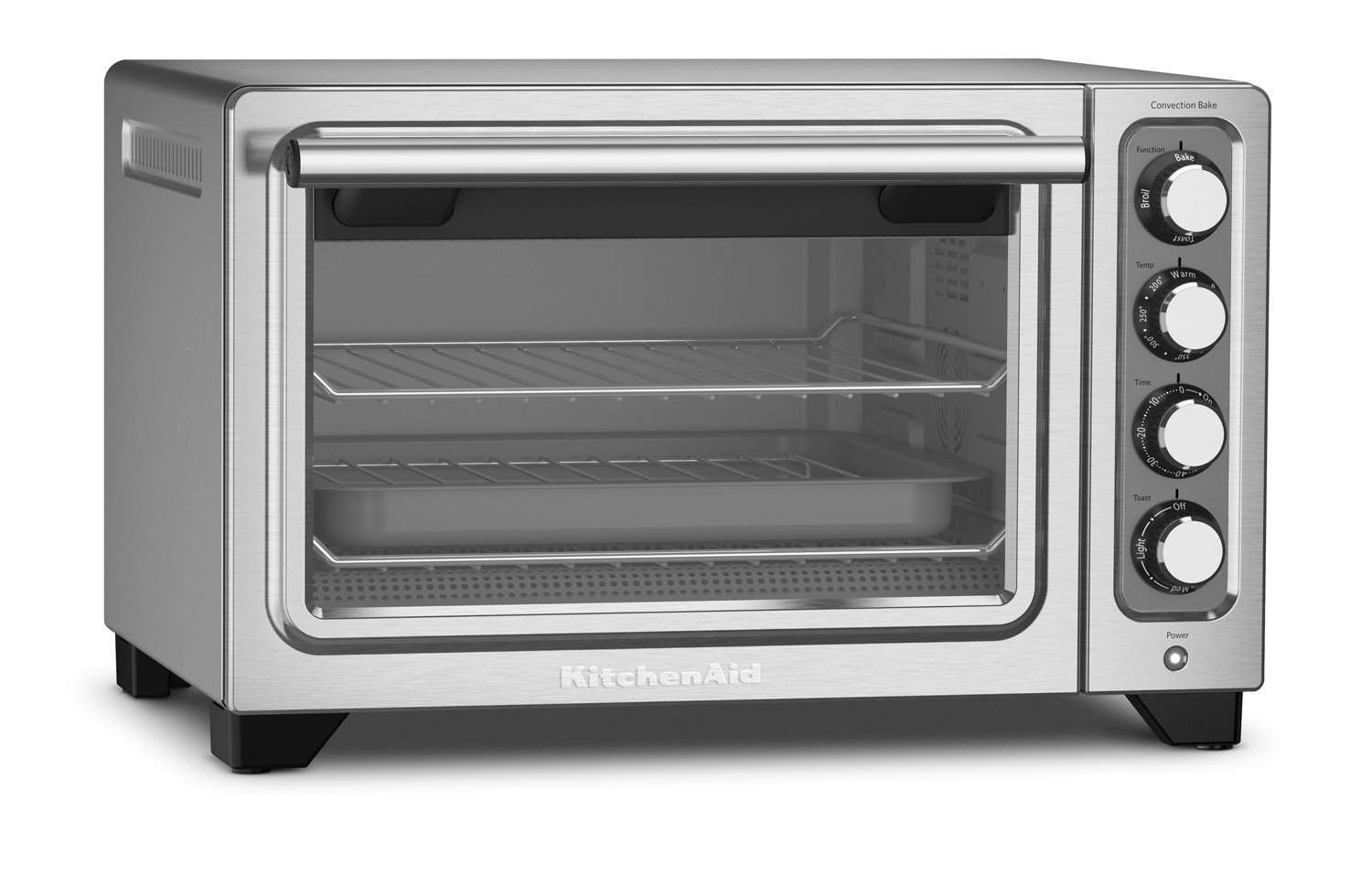 KitchenAid KCO253CU 12-Inch Compact Convection Countertop Oven ...