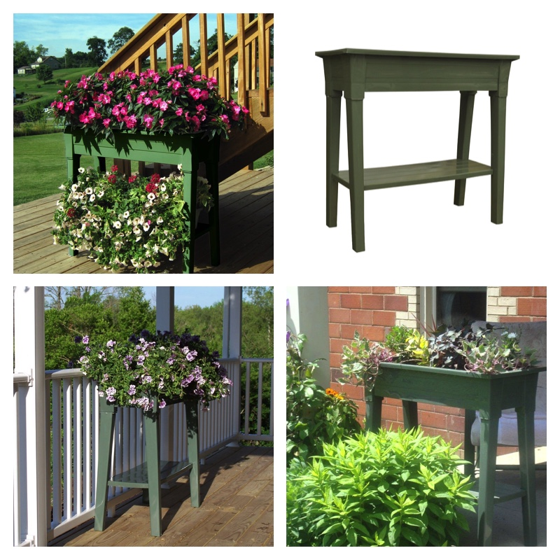 Adams Manufacturing 36 Inch Deluxe Garden Planter, Sage Green Only $26.87  SHIPPED!