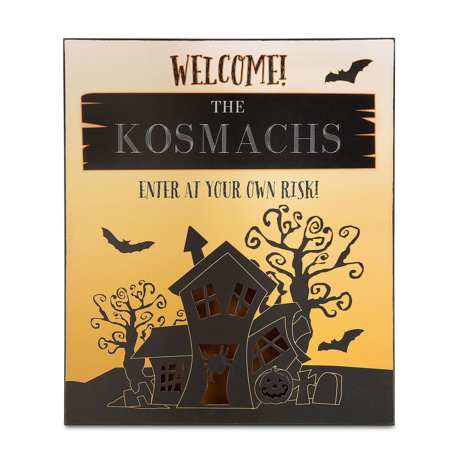 75% Off Personalized Halloween Haunted House Wall Art at Things ...