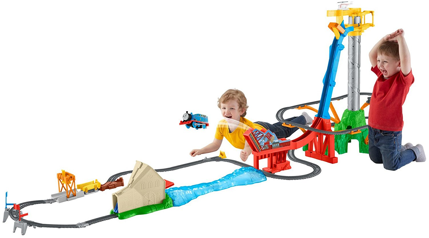c2f0bd8ba55dc8 Fisher-Price Thomas & Friends TrackMaster Thomas' Sky-High Bridge Jump Only  $29.97