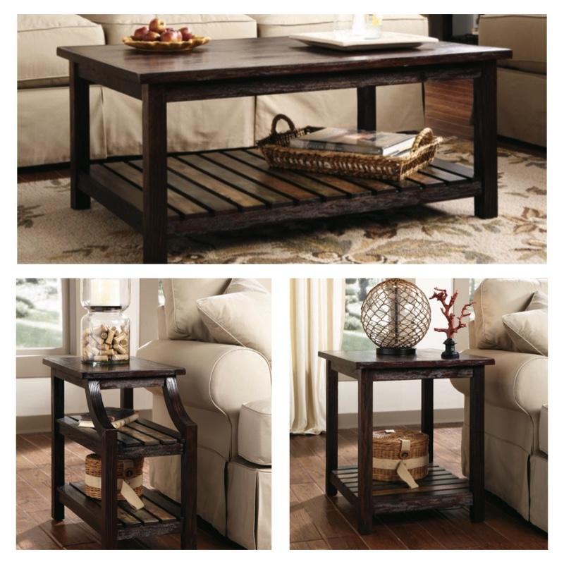 Ashley Furniture Signature Design – Mestler Living Room Table Set ...