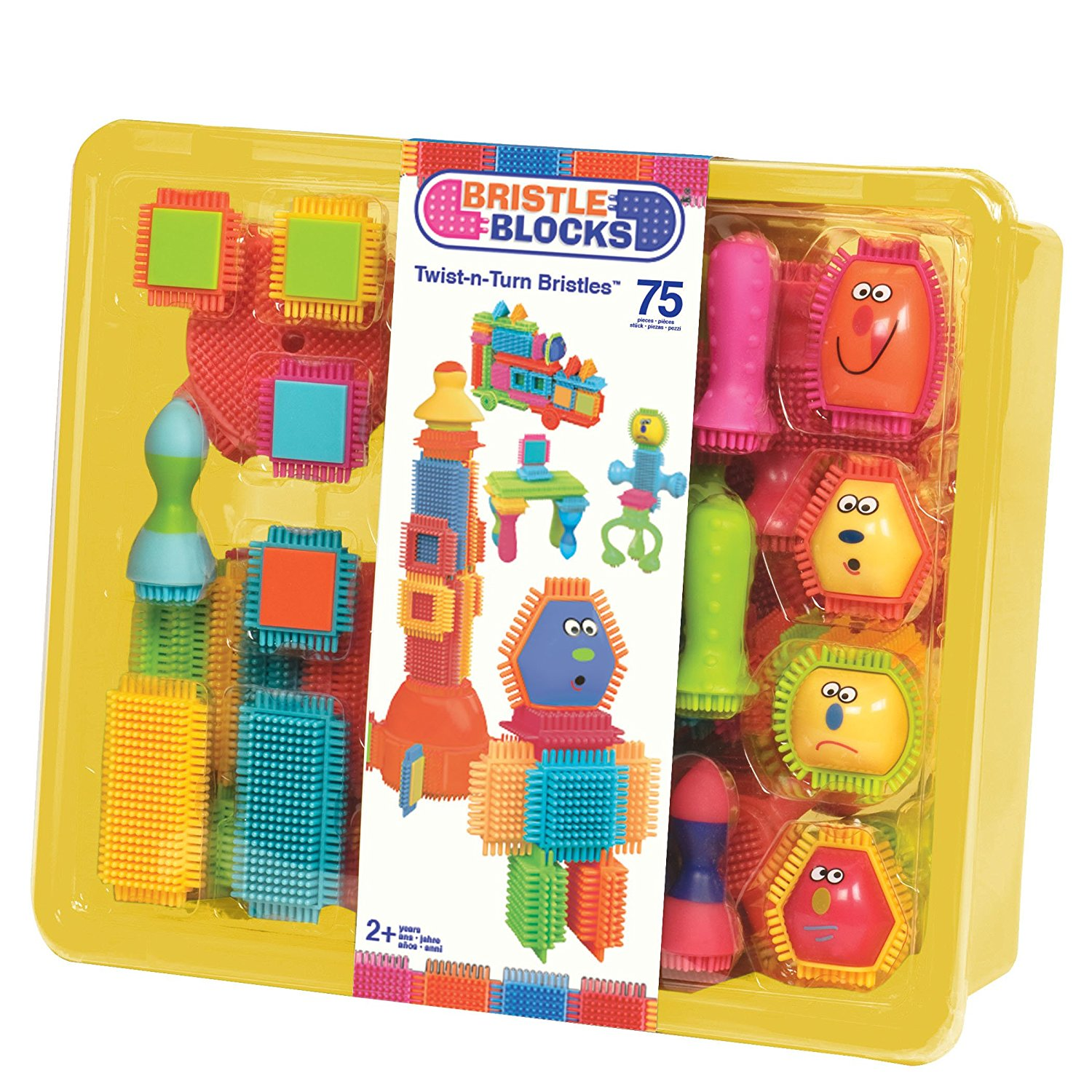 Bristle Blocks Toy Building Blocks for Toddlers 75 Pieces in Bin