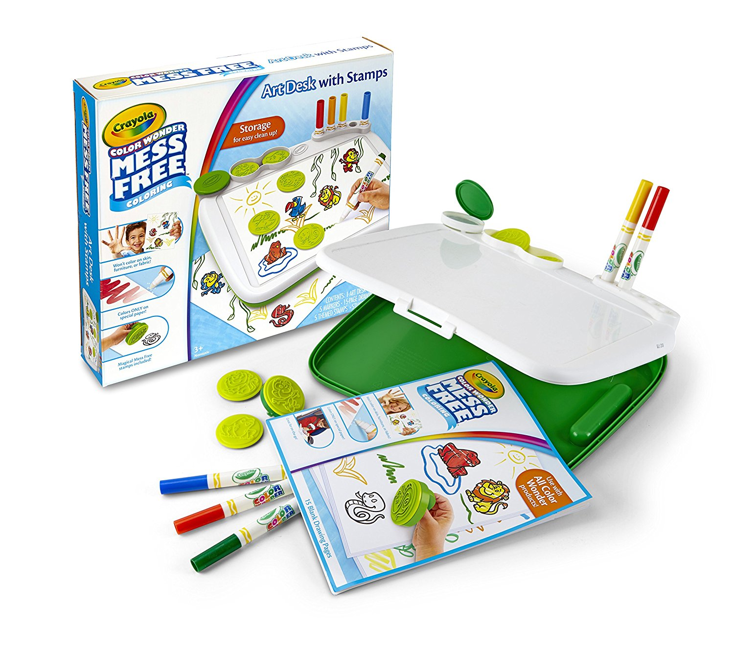 Crayola Color Wonder Mess-Free Art Desk with Stamps,Coloring Board ...