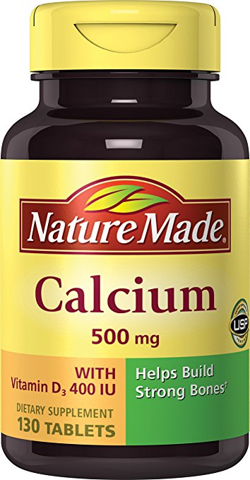 nature made calcium carbonate 500 mg w vitamin d3 400 iu tablets